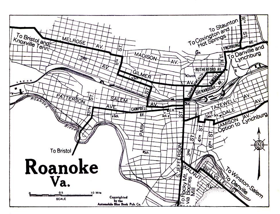 1919 Map Of Roanoke